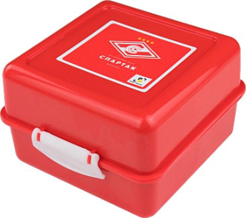 """Ланч-бокс """"Ромб"""" имеет три секции, предназначенные для хранения продуктов и идеально подходит для бутербродов и прочих перекусов. Защелкивающийся замок препятствует случайному открытию."""