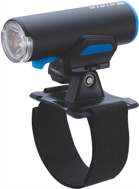 Фонарь велосипедный BBB ScoutCombo 200 Lumen LED, передний, цвет: черный, синий фонарь велосипедный bbb spy 17 lumen передний цвет черный 2 x cr2032