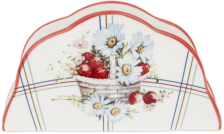 """Салфетница """"Лукошко"""" выполнена из фарфора. Изящный дизайн позволит вписаться ей в любую кухню и долго радовать глаз."""