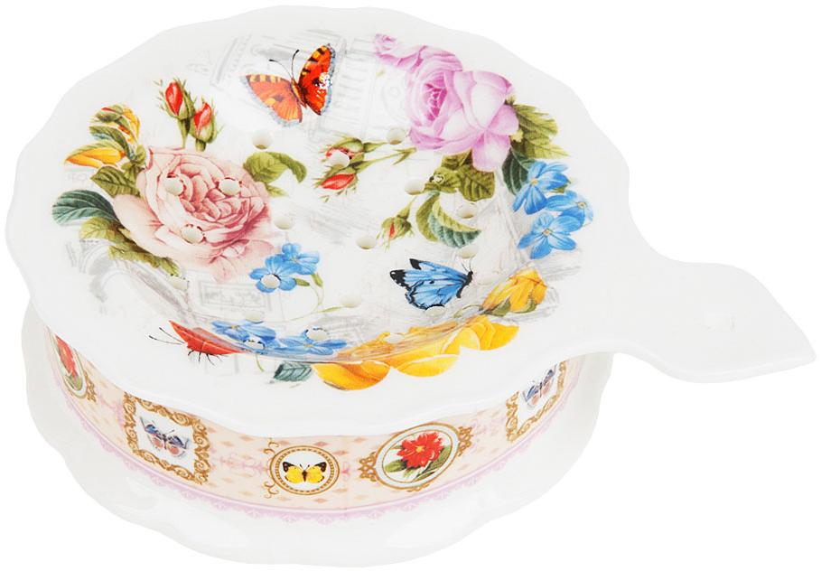 """Подставка под чайный пакетик """"Лето в Европе"""" выполнена из фарфора. Оригинальный яркий дизайн станет эффектным акцентов в вашей кухне."""