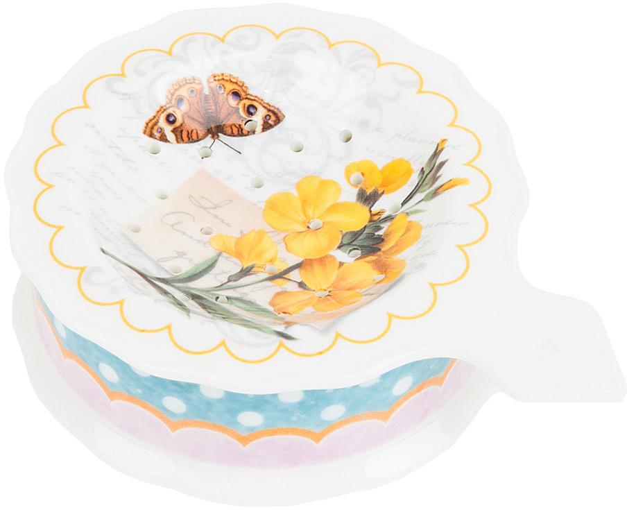 """Подставка под чайный пакетик """"Сад"""" выполнена из фарфора.Оригинальный яркий дизайн станет эффектным акцентов в вашей кухне."""