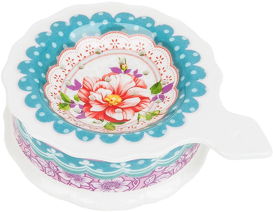 """Подставка под чайный пакетик """"Цветочные кружева"""" выполнена из фарфора.Оригинальный яркий дизайн станет эффектным акцентов в вашей кухне."""