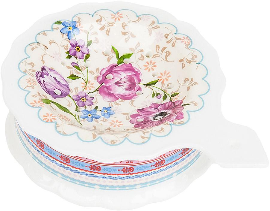 """Подставка под чайный пакетик """"Разноцветные тюльпаны"""" выполнена из фарфора. Оригинальный яркий дизайн станет эффектным акцентов в вашей кухне."""