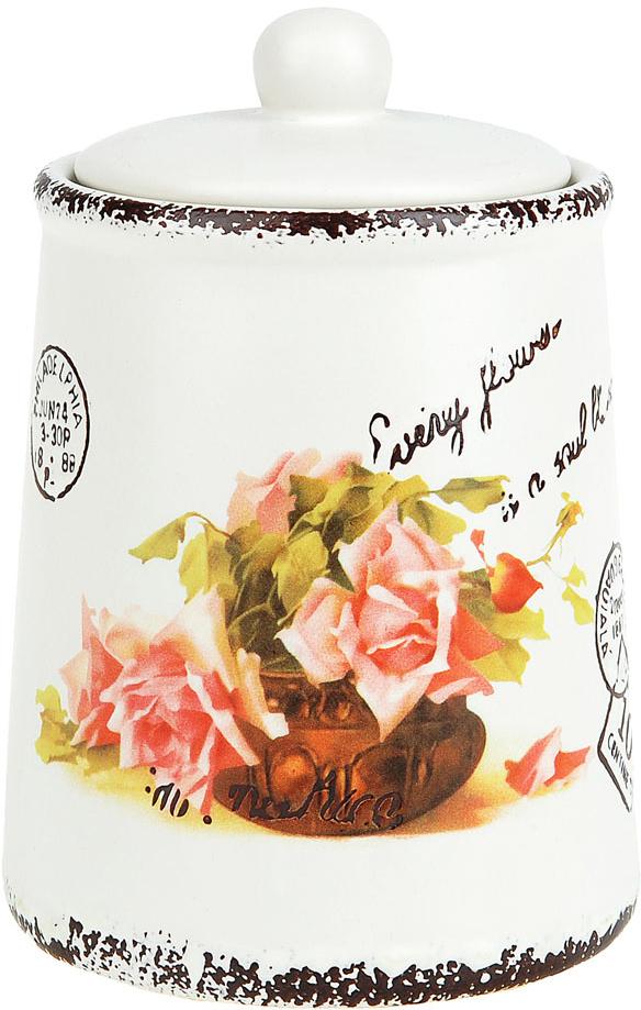 Банка для сыпучих продуктов ENS Group Персиковая роза, 700 мл ens group банка для сыпучих персиковая роза 11х15 см