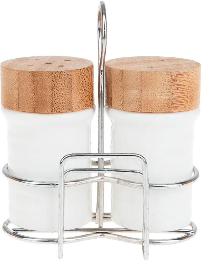 Набор для специй Best Home Porcelain Naturel, на подставке, 3 предмета. 2630058 набор для специй 2 предмета best home kitchen 4450019