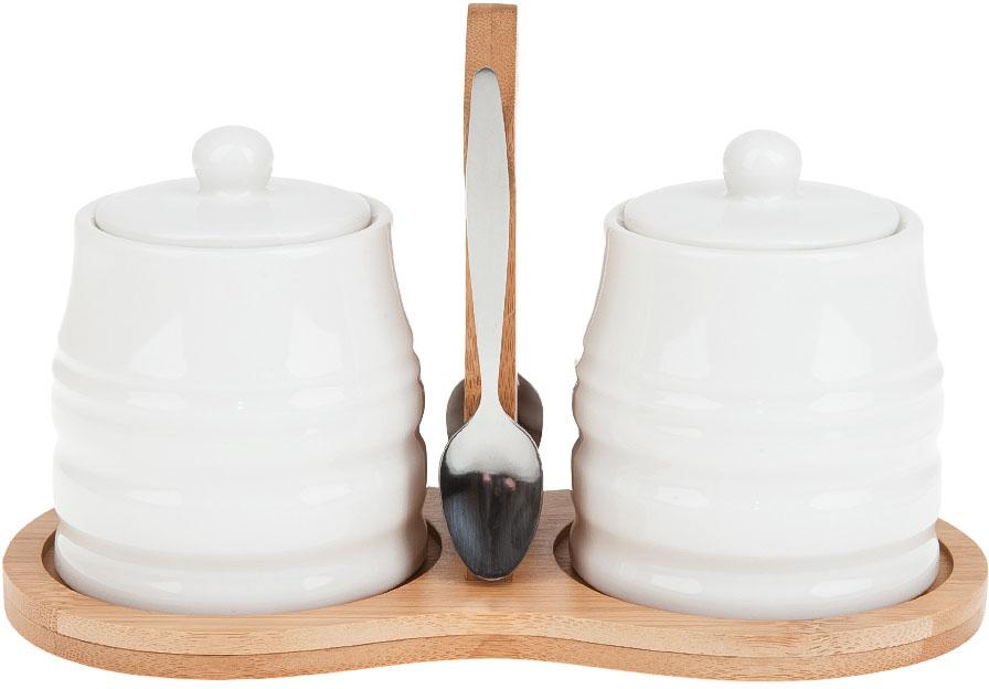 Набор для специй Best Home Porcelain Naturel, на подставке, 5 предметов. 2630065