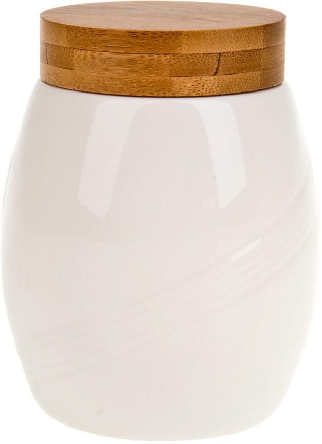 """Банка для сыпучих продуктов """"Naturel"""" выполнена из белоснежной керамики с бамбуковой крышкой.  Ненавязчивый лаконичный дизайн позволит вписаться ей в любую кухню и долго радовать глаз."""