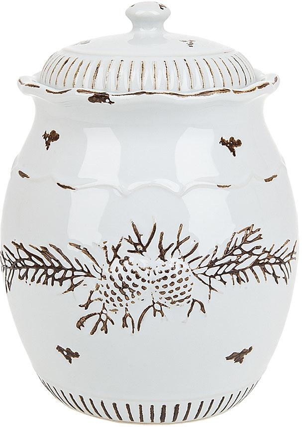 """Банка для сыпучих продуктов """"Тайга"""" выполнена из керамики.  Изящный дизайн позволит вписаться ей в любую кухню и долго радовать глаз."""