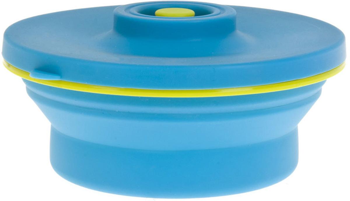 """Контейнер (складной) Best Home Kitchen """"Голубая лагуна"""" выполнен из пищевого силикона, крышка из пластика. Не занимает много места при хранении. Удобный, функциональный в использовании, привлекательный яркий дизайн.Цвет: голубойОбъем: 0,6 л."""