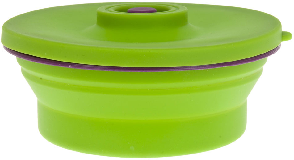"""Контейнер (складной) Best Home Kitchen """"Зеленое яблок"""" выполнен из пищевого силикона, крышка из пластика. Не занимает много места при хранении.Удобный, функциональный в использовании, привлекательный яркий дизайн.Цвет: зеленыйОбъем: 0,8 л."""