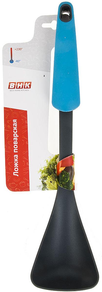 Ложка поварская изготовлена из пищевого пластика.Функциональная и простая в использовании, незаменимый инструмент для хозяйки.