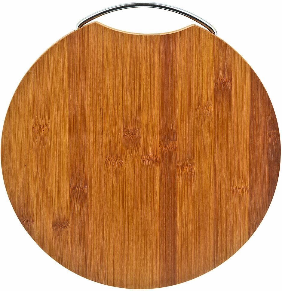 Доска разделочная Best Home Kitchen ЭКО-коллекция, бамбуковая, диаметр 28 см доска разделочная taller 2210