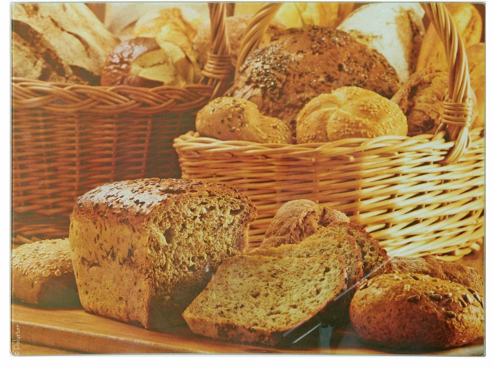 """Разделочная доска """"Хлеб"""" изготовлена из жаропрочного стекла.Функциональная и простая в использовании, разделочная доска отлично впишется в интерьер любой кухни и прослужит вам долгие годы."""