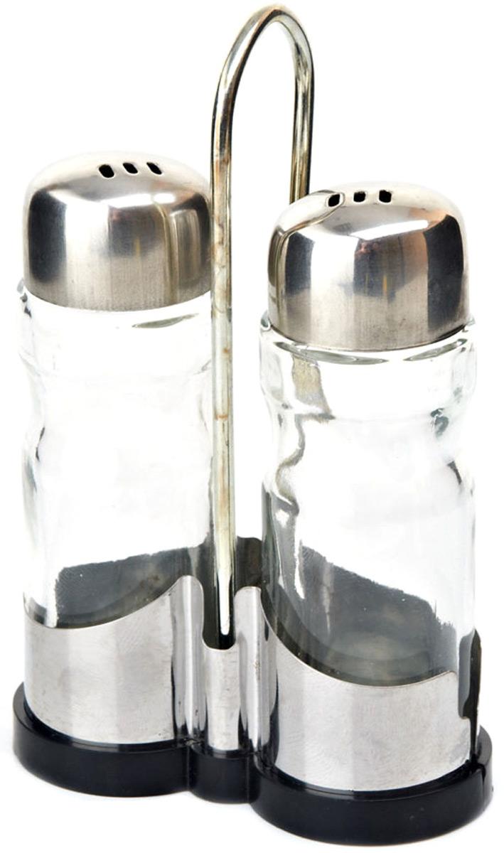 Набор для специй изготовлен из прозрачного стекла. Металлическая подставка , входящая в набор, делает его еще более функциональным и удобным в использовании.