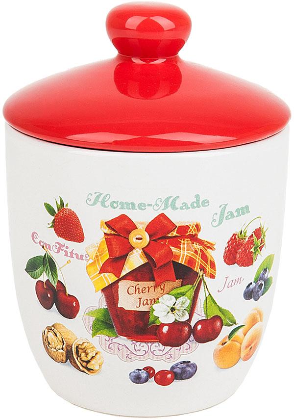 """Банка для сыпучих продуктов """"Джем"""" выполнена из керамики.  Оригинальный яркий дизайн станет эффектным акцентов в вашей кухне."""