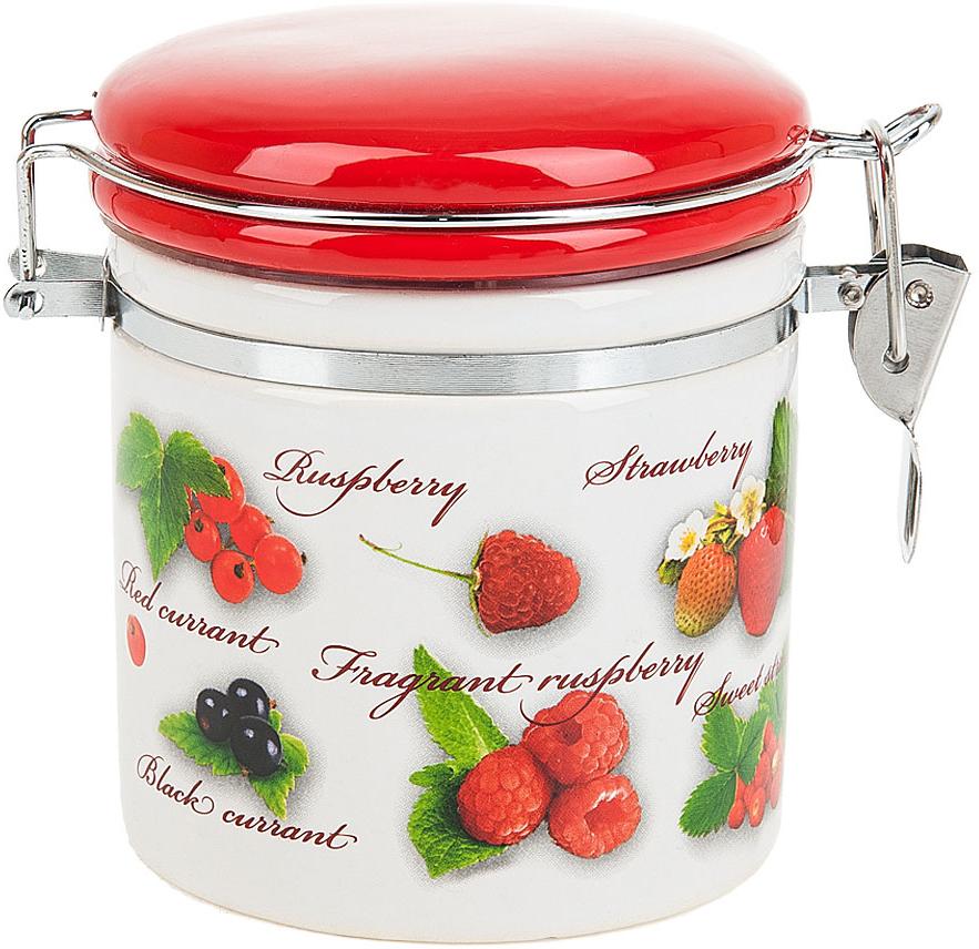 Банка для сыпучих продуктов Polystar Collection Садовая ягода, с зажимом-клипсой, 500 мл банка 500 мл polystar банка 500 мл
