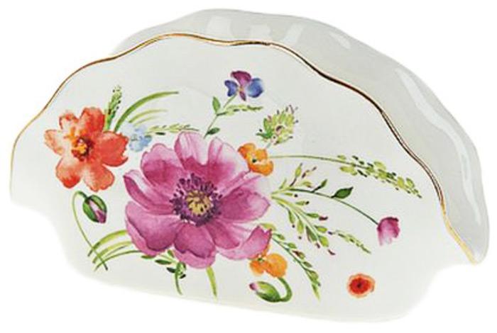 """Салфетница """"Summer day"""" выполнена из фарфора. Изящный цветочный дизайн станет эффектным акцентов в вашей кухне."""