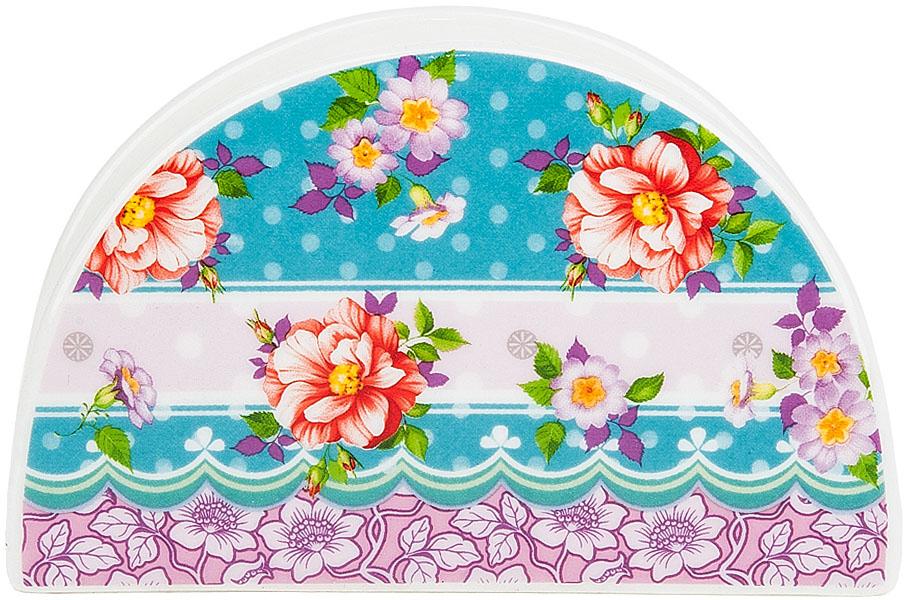 """Салфетница """"Цветочные кружева"""" выполнена из фарфора. Изящный дизайн позволит вписаться ей в любую кухню и долго радовать глаз."""