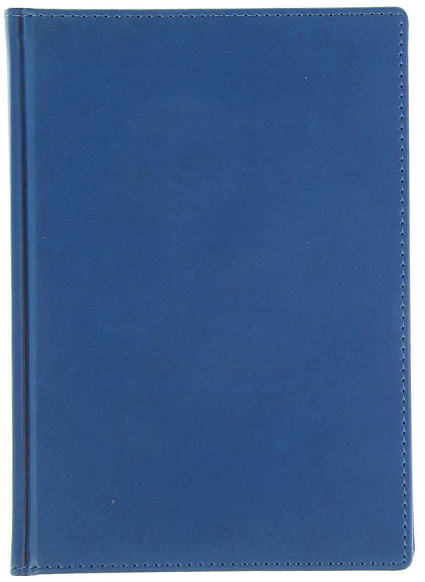 Альт Ежедневник Velvet недатированный 136 листов цвет синий формат А5