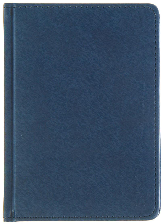 Альт Ежедневник Velvet недатированный 136 листов цвет темно-синий формат А6