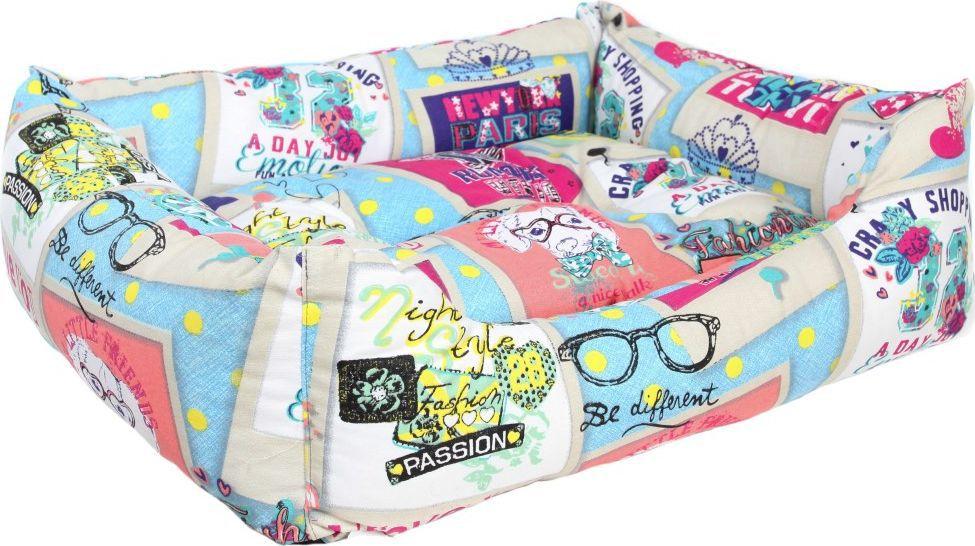 Лежак для животных Pride Крэйзи Шоппинг Дог, 60 х 50 х 18 см. 10012461 лежак для животных pride милитари 2 цвет коричневый 90 х 80 х 25 см