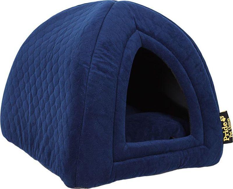Домик для животных Pride Ватсон, цвет: синий, 40 х 40 х 40 см. 10031131 домик perseiline кошка для кошек 38 40 40 см 00025 дмс 4