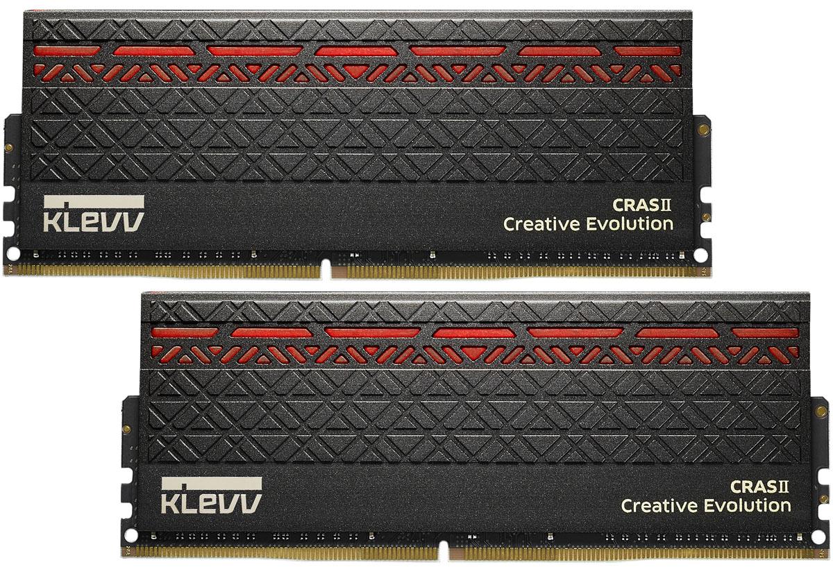 Klevv Cras II DDR4 DIMM 2х8Gb 3000MHz CL16 модуль оперативной памятиKM4Z8GX2A-3000-0Используя самые актуальные высокоуровневые разработки в сфере IT, лидер технологического прогресса KLEVV представляет усовершенствованную игровую память CRAS II DDR4 с LED подсветкой. Готовы к настоящему экстриму? Благодаря CRAS II вы достигнете по-настоящему экстремальной производительности в играх.