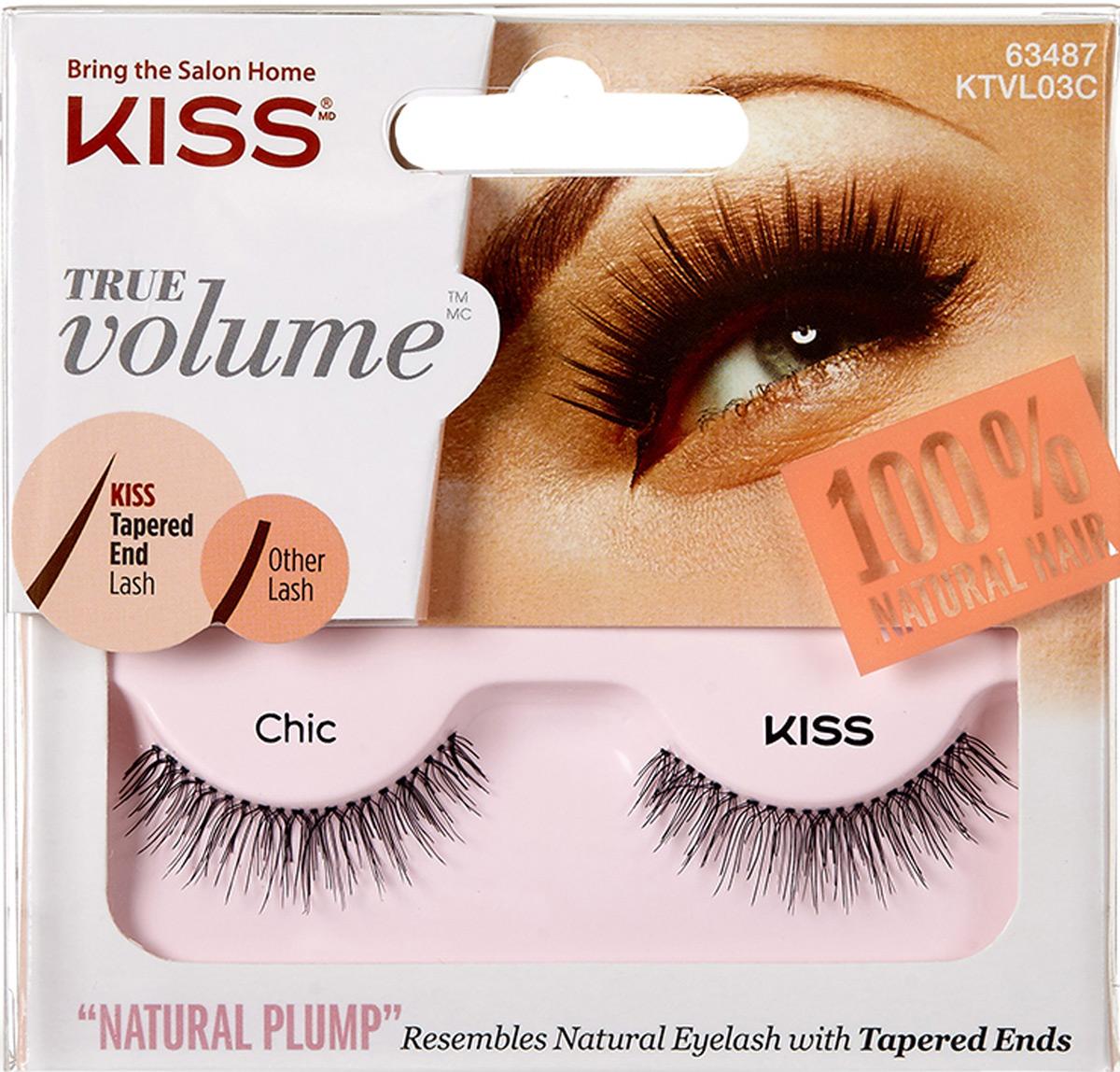 Kiss True Volume Накладные ресницы Lash Chic KTVL03C накладные ресницы kiss ienvy eyelashes juicy volume 02
