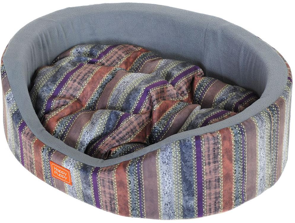 Лежак для животных Happy Puppy Баунти, 57 x 44 x 15 см лежак для животных happy puppy мопсик 50 x 39 x 15 см