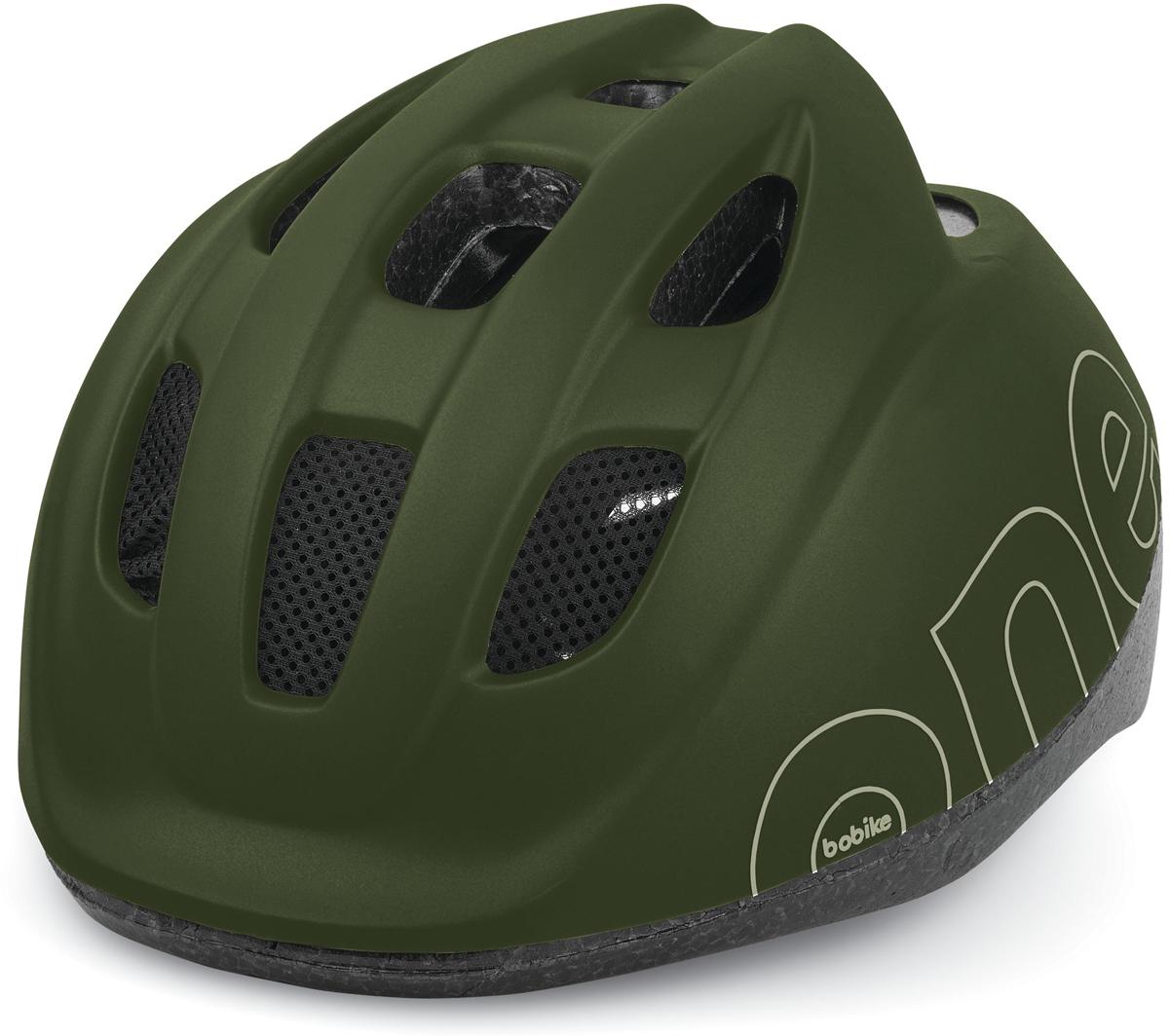 Шлем велосипедный Bobike One Olive Green, детский, цвет: зеленый. Размер XS (46-53 см)