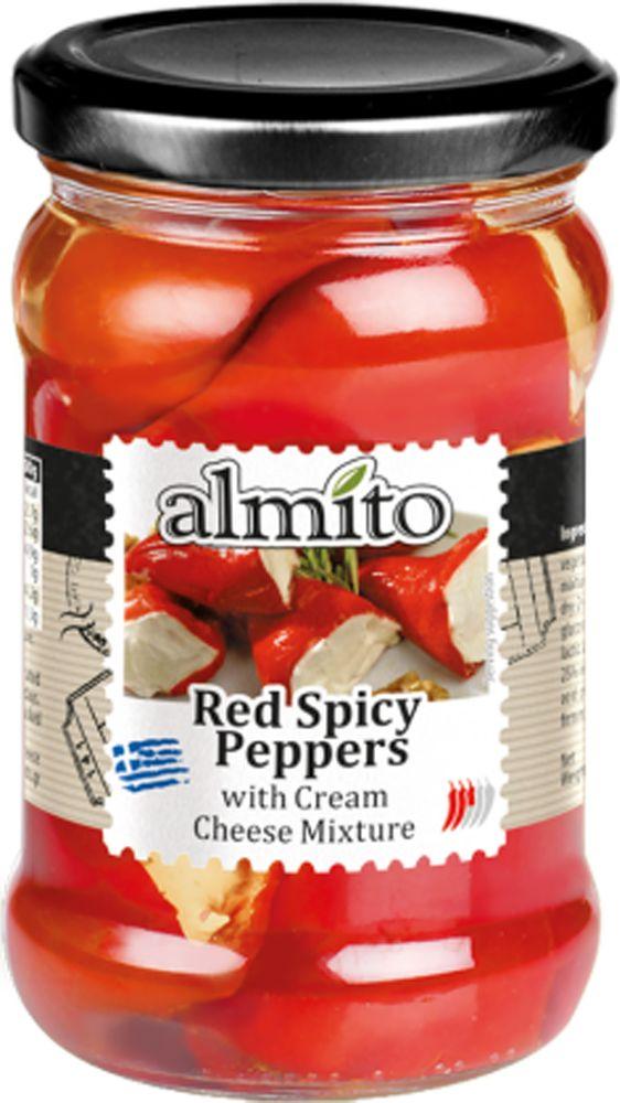 Almito Греческий красный перец с сыром, 320 мл almito греческий маринованный зеленый перец 320 мл