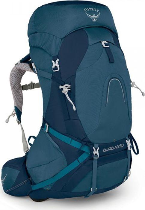 Рюкзак Osprey Aura AG, цвет: синий, 47 л1043161Принципиально новый рюкзак Aura AG оснащен уникальной системой AntiGravity с первым в мире полностью вентилируемым поясным ремнем. Где бы вы не находились, будь то путешествие по пустыне или трекинг в тундре, хорошо вентилируемая спина с 3D конструкцией и бесшовной сеткой обеспечивает непревзойденный комфорт и позволяет сбалансировать центр тяжести. Даже при полной загрузке рюкзака, благодаря подвесной системе ExoForm/BioStretch, специальным поддерживающим форму лямок элементам и поясному ремню Fit-on-the-Fly, вы будете ощущать легкость. Компрессионные ремни InsideOut позволяют регулировать объём рюкзака, сделав его максимально компактным. Нижнее отделение на молнии и верхний клапан обеспечивают быстрый доступ к необходимым вещам. С помощью уникальной системы крепления Stow-on-the-Go можно легко и просто зафиксировать или снять трекинговые палки, не снимая рюкзак со спины. Большой отсек для спального мешка в основном отделении с внутренней перегородкой. Встроенная в верхний клапан накидка от дождя защищает рюкзак и вещи от промокания и грязи. Если же вы хотите сократить объем рюкзака до минимума, отстегните верхний клапан и воспользуйтесь накидкой FlapJacket, которая дополнительно защищает сверху содержимое рюкзака в непогоду. Специальный дизайн, разработанный с учетом анатомических особенностей женской фигуры, гарантирует идеальную посадку. Разработан специально для женщин Вентилируемая конструкция спины и поясного ремня AntiGravity из 3D натянутой сеткиПодвесная система ExoForm/BioStretch с поддерживающими форму лямок элементамиГрудная стяжка со свистком Верхний клапан Накидка FlapJacket для использования без верхнего клапана 2 кармана на молнии на поясном ремне 2 петли для крепления ледоруба Встроенная съемная накидка от дождя Отсек для спального мешка в основном отделении с внутренней перегородкой Регулируемый поясной ремень Fit-on-the-Fly Карман для питьевой системы полностью совместим с резервуаром Osprey Hydrauli