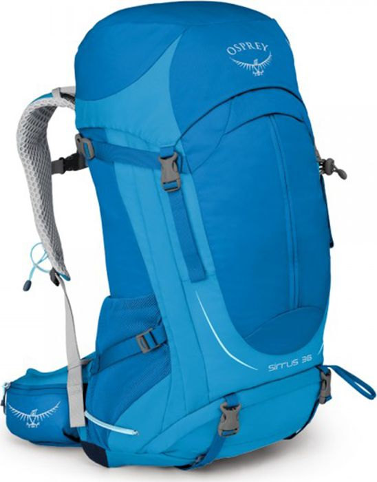 Рюкзак Osprey Sirrus, цвет: синий, 36 л. Размер M28991Рюкзаки серии Sirrus, разработанные с учетом анатомических особенностей женской фигуры, имеют вентилируемую конструкцию спины AirSpeed из натянутой сетки с боковой вентиляцией, обеспечивая непревзойденный комфорт. Поясной ремень и лямки выполнены из наполнителя EVA с подкладкой из сетки для вентиляции. В жарких условиях особенно важно поддерживать водный баланс - поэтому все рюкзаки серии Sirrus оснащены специальным карманом для трубки питьевой системы. Встроенная накидка от дождя защищает рюкзак и вещи от промокания и грязи. Для путешествий с ночевкой предусмотрены съемные ремни для коврика и отсек для спального мешка в основном отделении с внутренней перегородкой. Доступ к основному отделению спереди рюкзака на большой молнии. В двух карманах на молнии на поясном ремне, а также боковых карманах из сетки со стяжкой InsideOut можно разместить остальное снаряжение. С помощью уникальной системы крепления Stow-on-the-Go с двумя эластичными петлями можно легко и просто зафиксировать или снять трекинговые палки, не снимая рюкзак со спины. Петля для ледоруба особенно актуальна при передвижении по снегу и льду. Разработан специально для женщин Вентилируемая конструкция спины AirSpeed из натянутой сетки с боковой вентиляциейГрудная стяжка со свистком Эластичные боковые карманы из сетки со стяжкой InsideOut Верхний клапан 2 кармана на молнии на поясном ремне Система крепления трекинговых палок Stow-on-the-Go Встроенная съемная накидка от дождя Нижнее отделение для спального мешка на молнии Верхний карман с двумя отделениями на молнии Выход для трубки питьевой системы Внутренний карабин для ключей Съемные ремни для коврика Боковая стяжка Петля для крепления ледоруба Максимальный размер: 70 (длина) x 36 (ширина) x 31 (глубина) см Вес: 1,25 кг
