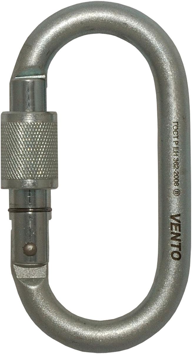 Карабин альпинистский VENTO Овал, с муфтой keylock