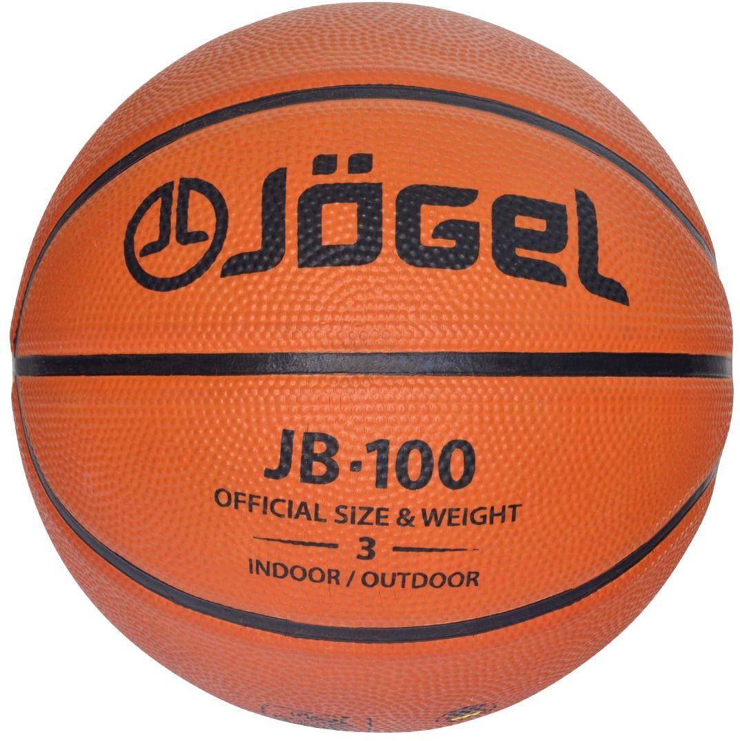 Мяч баскетбольный Jogel JB-100, цвет: коричневый. Размер 3 мяч баскетбольный nike skills цвет пурпурный черный белый размер 3