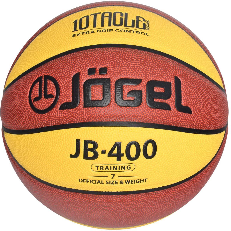 """Jogel JB-400 №7 – это отличный тренировочный баскетбольный мяч из новой серии 10TACLE. Уникальной особенностью серии 10TACLE является дизайнерская 10-ти панельная конструкция мяча, которая дополнительно повышает """"цепкость"""" мяча во время игры и ярко выделяется своим дизайном. Поверхность мяча выполнена из композитного материала, благодаря чему данным мячом можно играть как на улице, так и в зале. Благодаря технологии DeepChannel (глубокие каналы), используемой при производстве мячей Jogel, достигается лучший контроль мяча во время броска и дриблинга. Размер №7 предназначается для мужчин и юношей от 17 лет, официальный размер для соревнований мужских команд. Данный мяч рекомендован для любительской игры, тренировок и соревнований любительских команд и команд среднего уровня. Официальный размер и вес FIBA."""