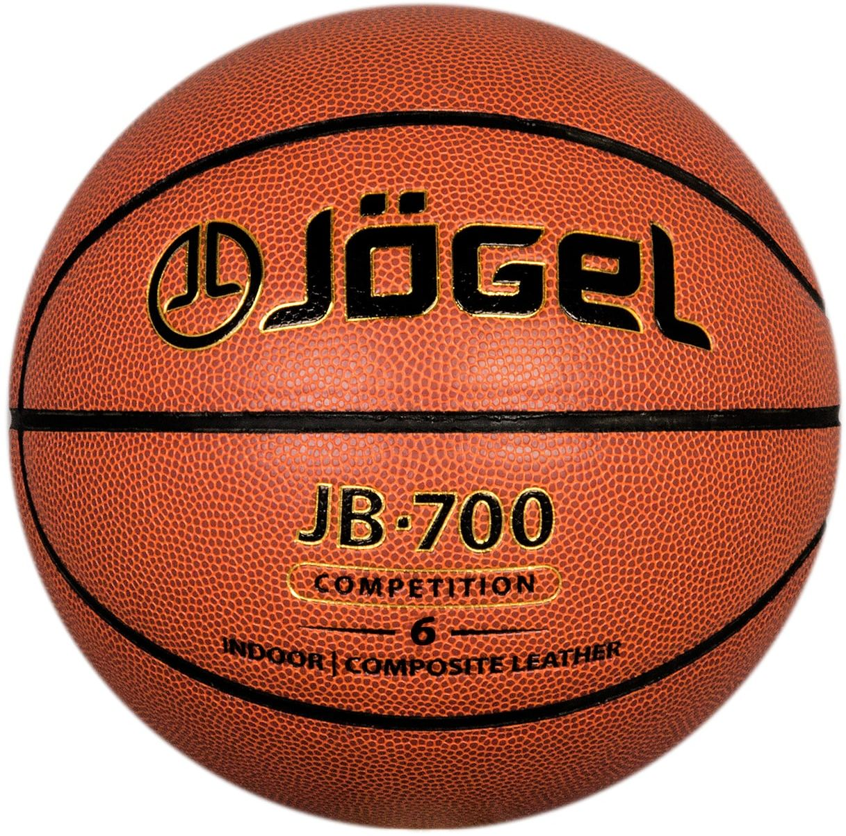 Мяч баскетбольный Jоgel JB-700, цвет: коричневый. Размер 6 баскетбольный мяч р 6 and1 competition micro fibre composite page 6