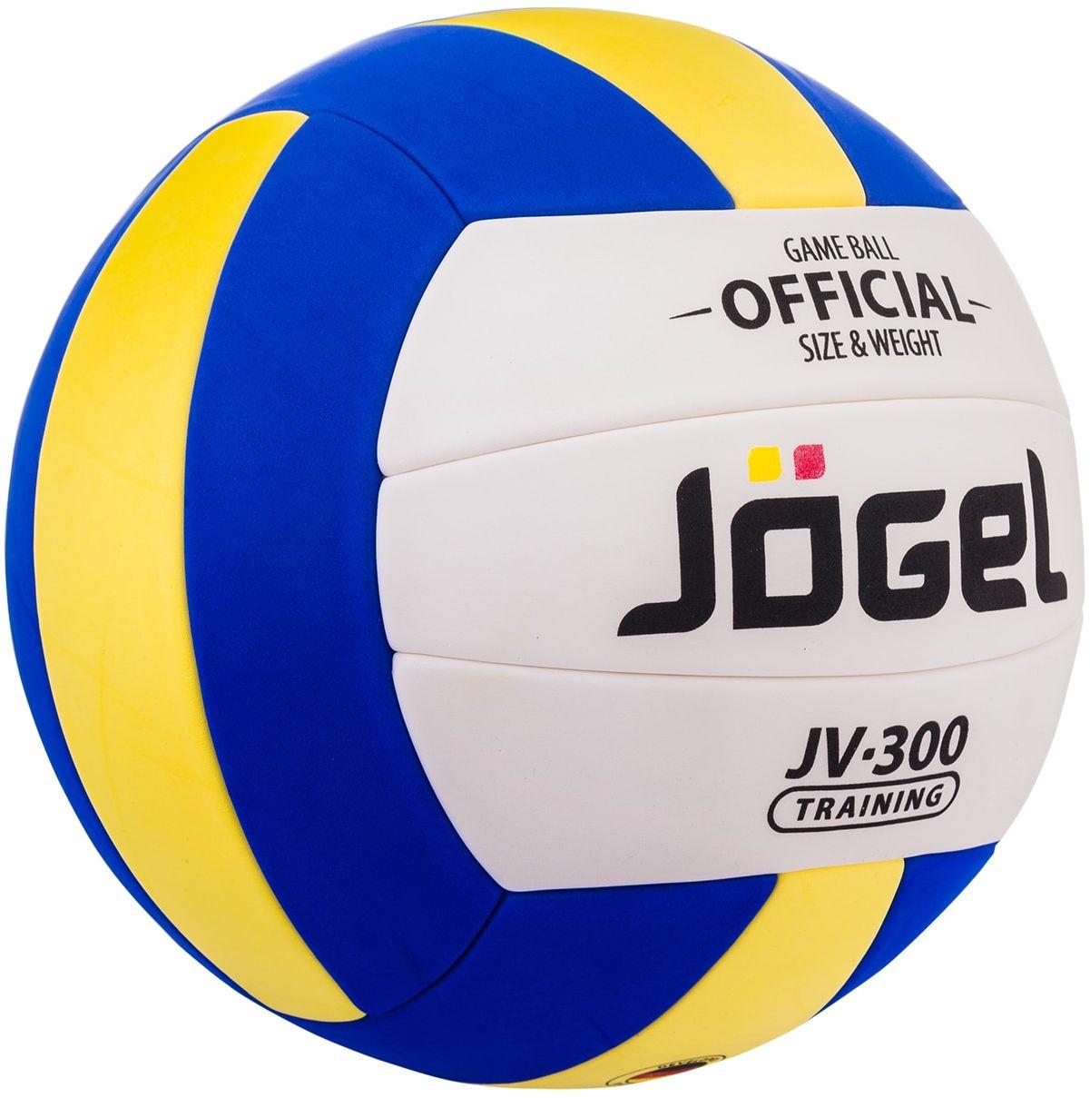 Мяч волейбольный Jоgel JV-300, цвет: синий, желтый. Размер 4 мячи спортивные jogel мяч волейбольный jogel jv 550
