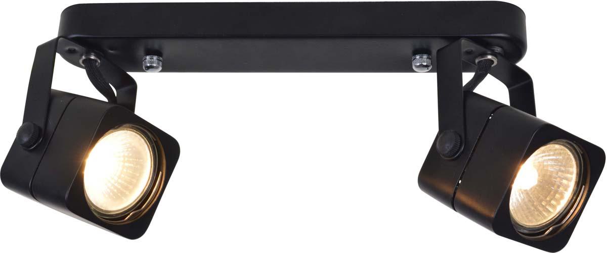 Светильник потолочный Arte Lamp Lente, цвет: черный, 2 х GU10, 50 W. A1314PL-2BKA1314PL-2BK