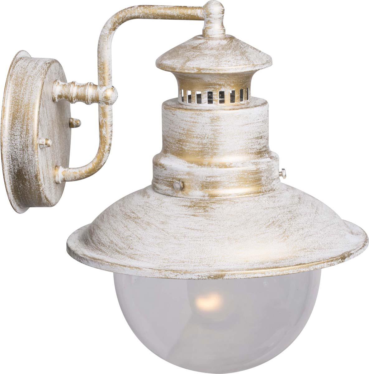 Светильник уличный Arte Lamp Amsterdam, цвет: белый, золотой, 1 х E27, 60 W. A1523AL-1WG