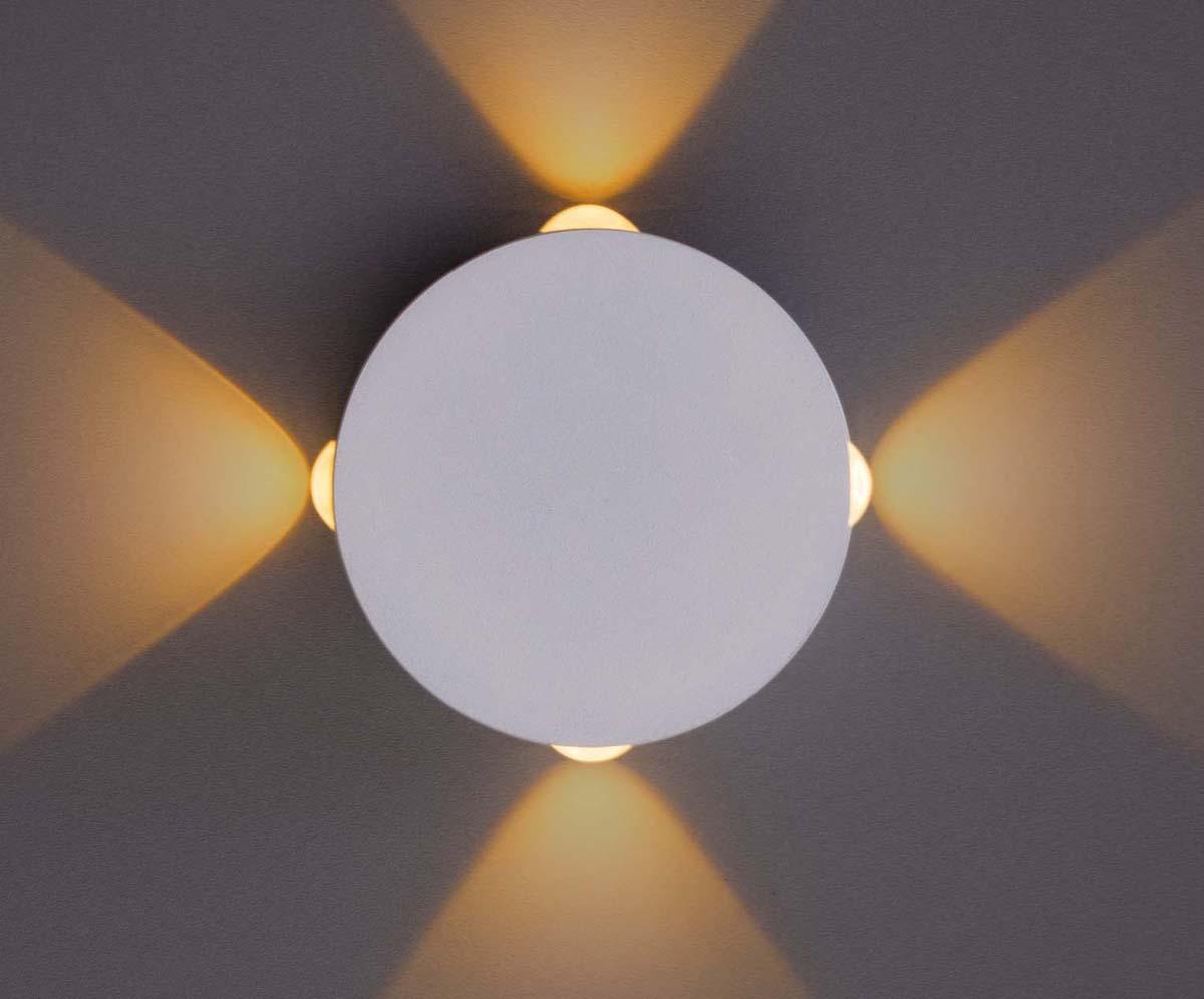 Светильник настенный Arte Lamp Tamburello, 1 х LED, 4 W. A1525AP-1WH бра arte lamp virata 1 х led 7 w a1807ap 1wh