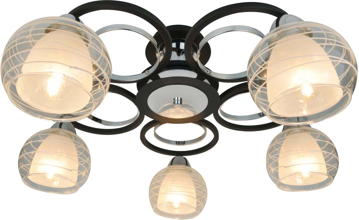 Светильник потолочный Arte Lamp Ginevra, 5 х E14, 40 W. A1604PL-5BK
