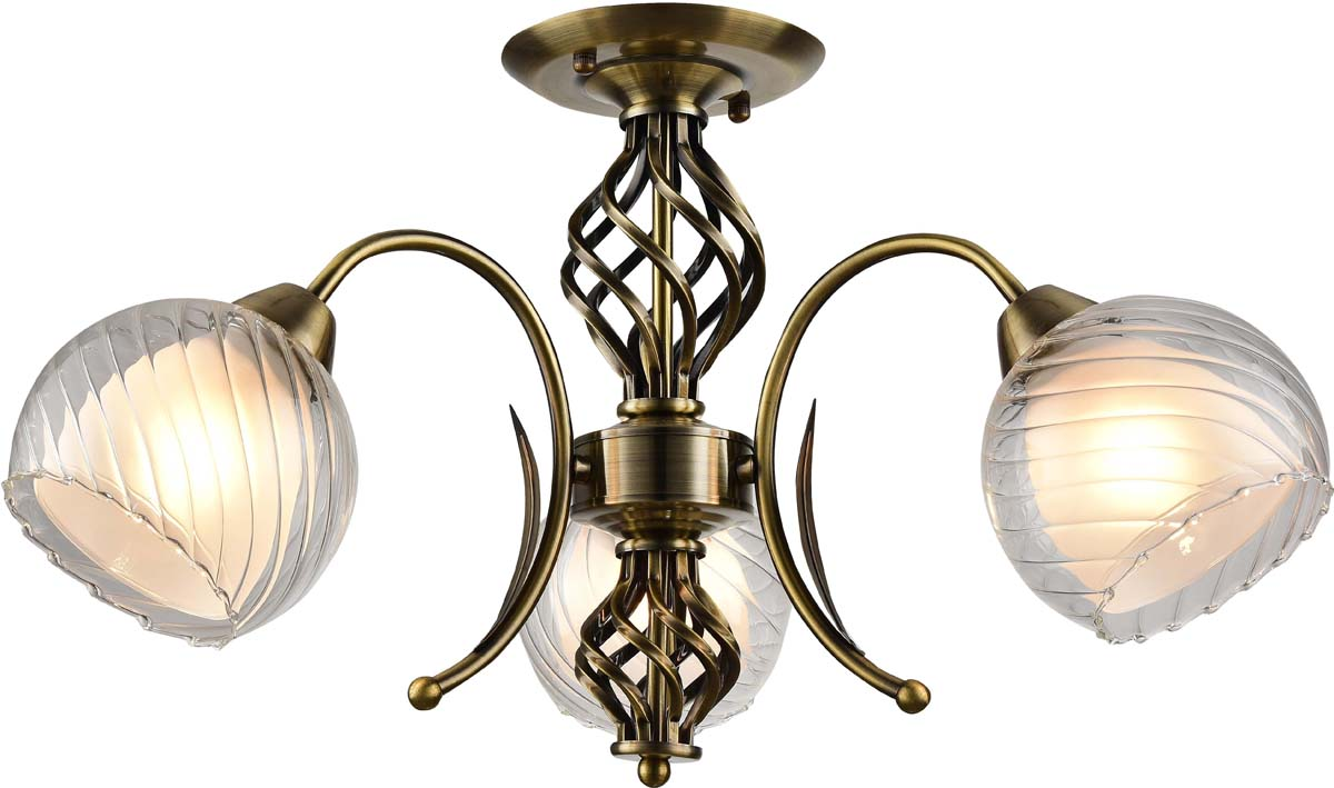 Светильник потолочный Arte Lamp Dolcemente, 3 х E27, 60 W. A1607PL-3AB люстра на штанге arte lamp dolcemente a1607pl 3ab