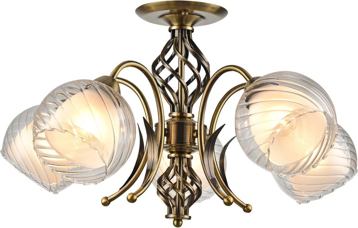 Светильник потолочный Arte Lamp Dolcemente, 5 х E27, 60 W. A1607PL-5AB светильник потолочный sonex blanketa gold 2 х e27 60w 102 k