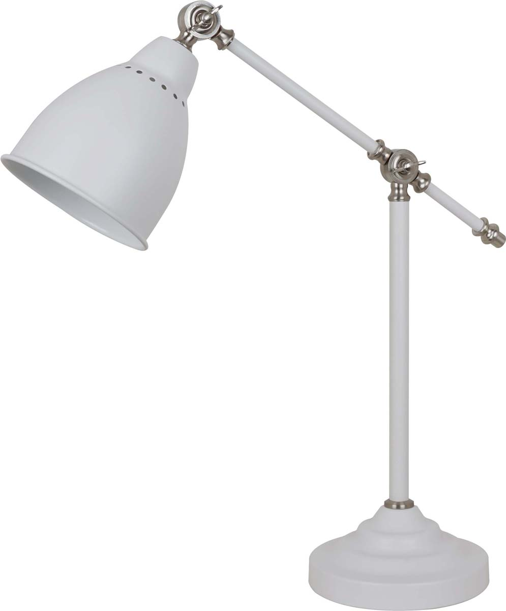 Светильник настольный Arte Lamp Braccio, цвет: белый, 1 х E27, 60 W. A2054LT-1WH tople tj rgb 3wp e27 3w 180lm 1 led multi color light lamp w remote controller red