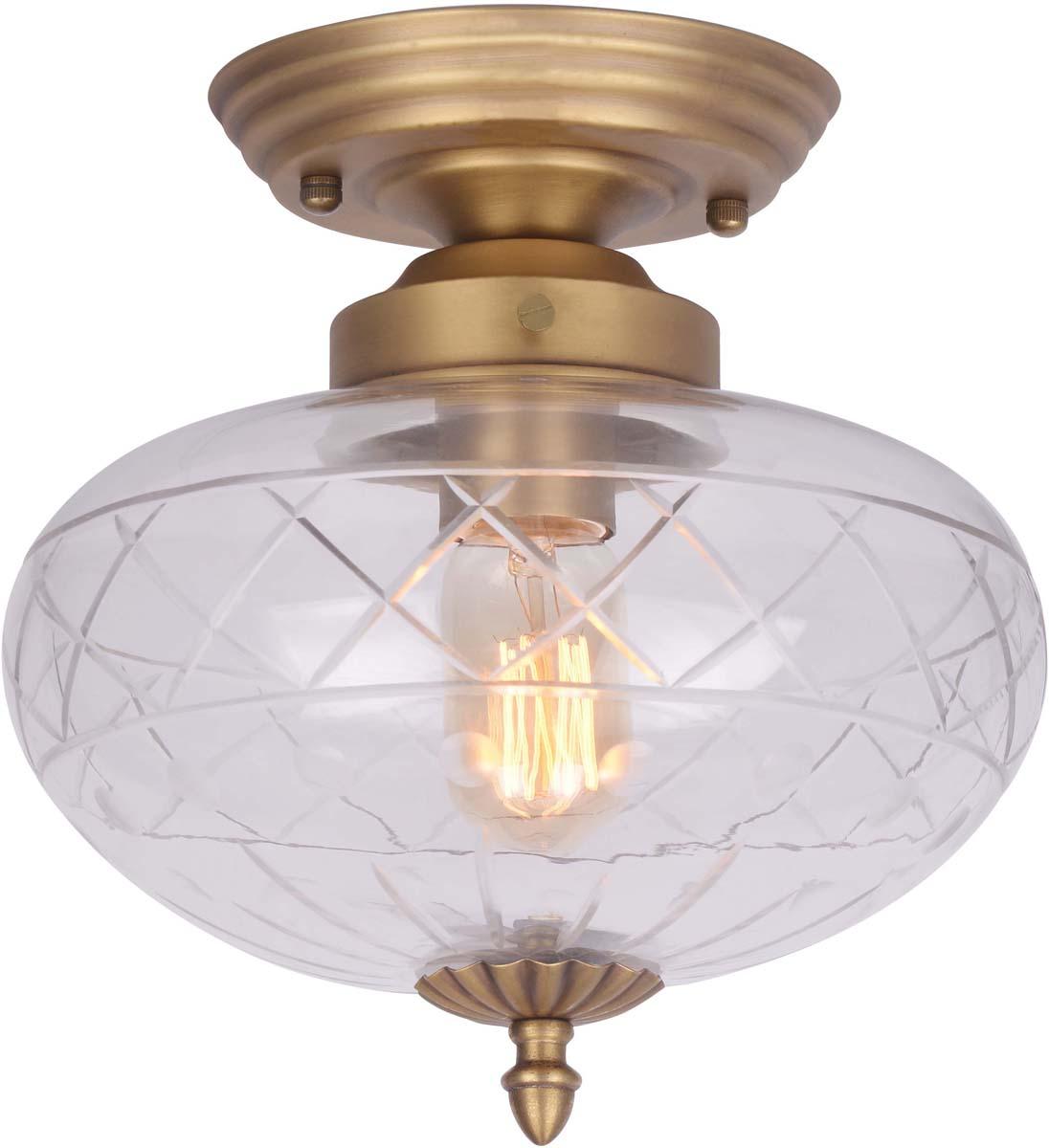 Светильник потолочный Arte Lamp Faberge, 1 х E27, 40 W. A2303PL-1SG светильник потолочный sonex blanketa gold 2 х e27 60w 102 k