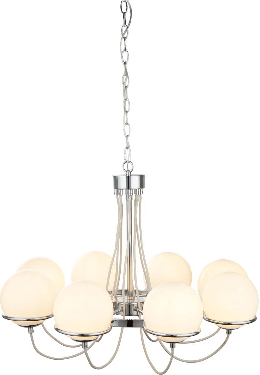 Светильник подвесной Arte Lamp Bergamo, цвет: серебристый, 8 х E14, 40 W. A2990LM-8CC люстра на штанге arte lamp arancia a9276lm 8cc