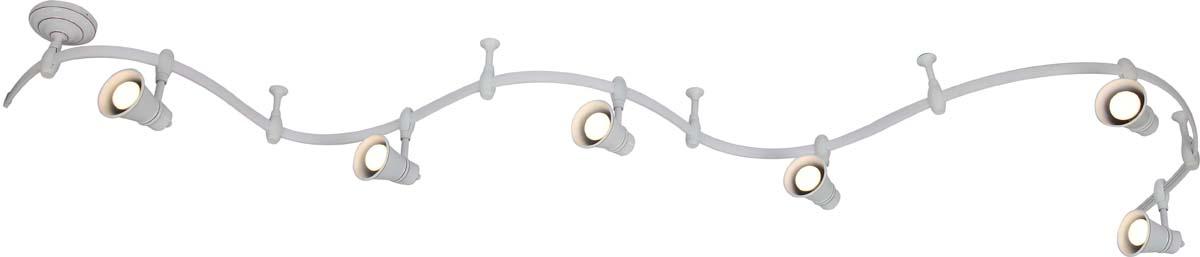 Светильник потолочный Arte Lamp Rails, цвет: белый, 6 х E14, 40 W. A3057PL-6WHA3057PL-6WH