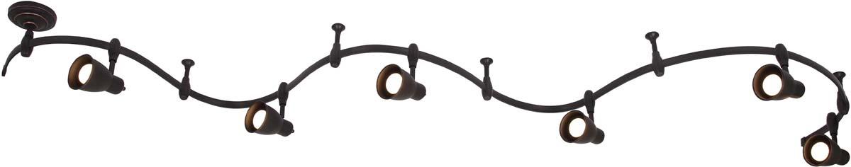 Светильник потолочный Arte Lamp Rails, цвет: черный, 6 х E14, 40 W. A3058PL-6BKA3058PL-6BK