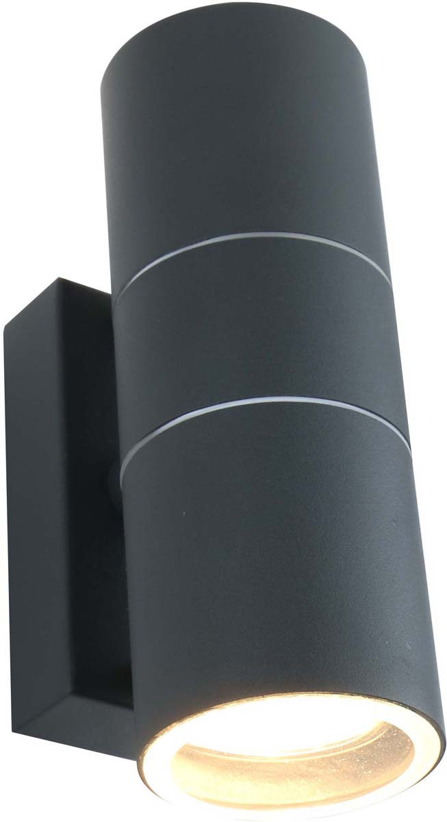 Светильник уличный Arte Lamp Mistero, цвет: серый, 2 х GU10, 50 W. A3302AL-2GY
